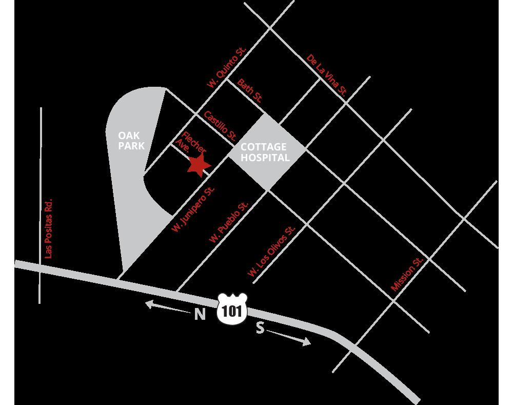 Map of Summit Surgery Center of Santa Barbara